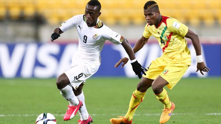 Moreirense striker Emmanuel Boateng (left)