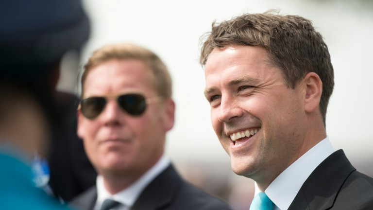 Michael Owen: after hanging up his football boots, he's now picking up a saddle