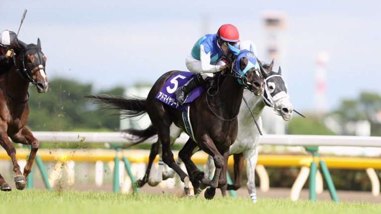 Admire Lead goes through a tight gap to provide jockey Christophe Lemaire with his 11th Grade 1 success in Japan in the Victoria Mile