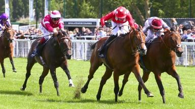 Brametot (right): won the Prix du Jockey Club