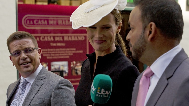 Francesca Cumani, Rishi Persad (right) and Jason Weaver were on duty for ITV Racing at Chester last week