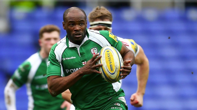 London Irish's record tryscorer Topsy Ojo