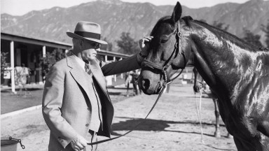 Tom Smith with the legendary Seabiscuit who was a May 23 foal