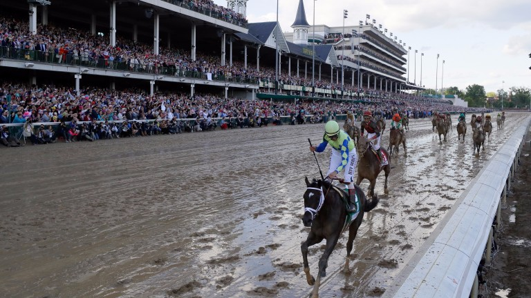 Always Dreaming makes the most of a clean trip to hold off Lookin At Lee in the Kentucky Derby