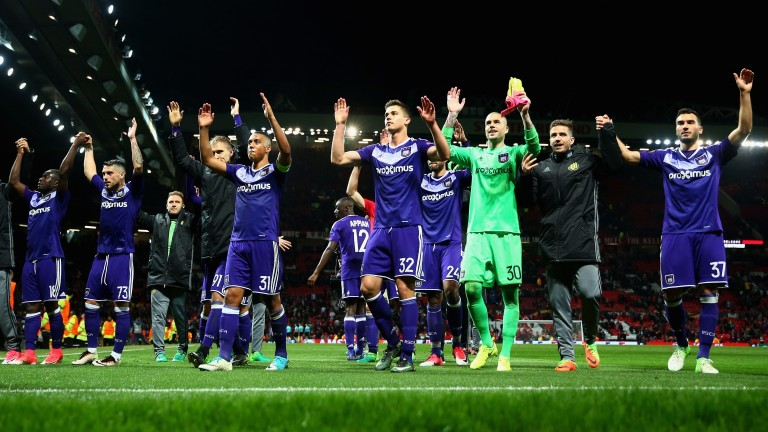 Anderlecht fell to Manchester United in the Europa League last eight