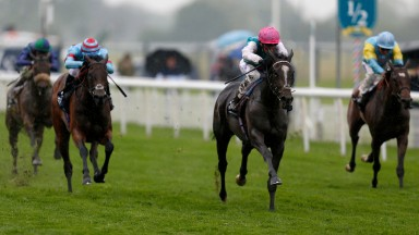 Shutter Speed (pink cap) lands the Musidora at York