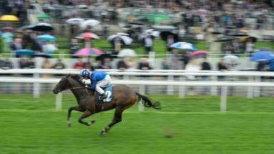 Tasleet: son of Showcasing runs out an impressive winner of the Group 2 Duke of York Stakes