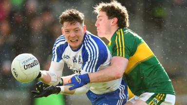 Conor McManus (left) spearheads a sharp Monaghan attack