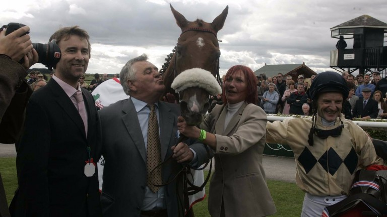 Collier Hill after winning the 2005 Irish St Leger at the Curragh