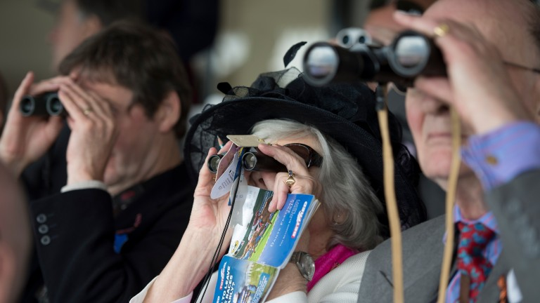Racegoers keep a close eye on the action