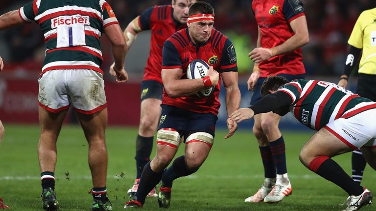 Munster back-rower Peter O'Mahony on the charge in a Champions Cup clash