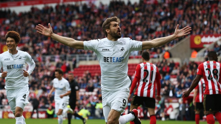 Fernando Llorente helped Swansea to stay up with a win at Sunderland