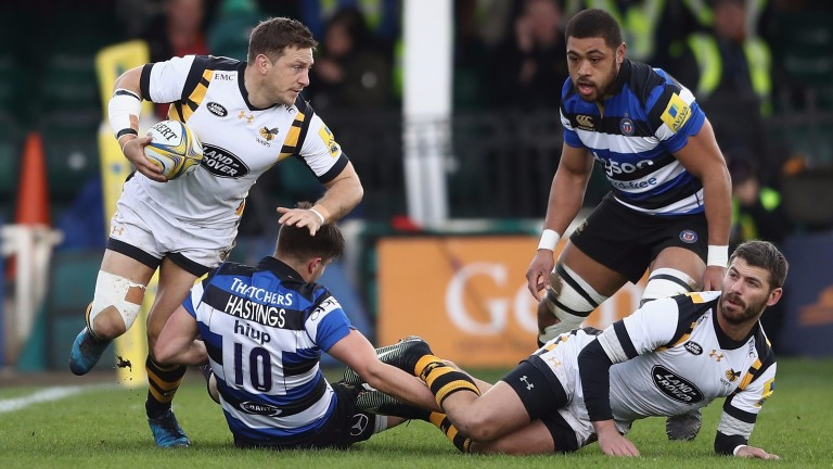 Jimmy Gopperth (left) has had a phenomenal season for Wasps