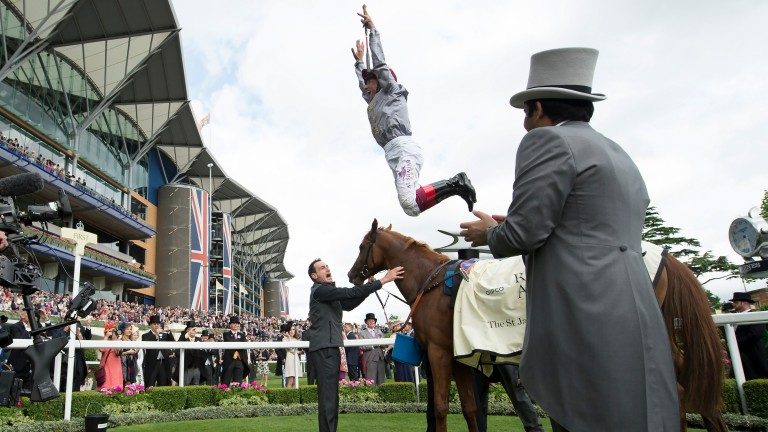 Will this scene be repeated in the winner's enclosure at Newbury this afternoon?
