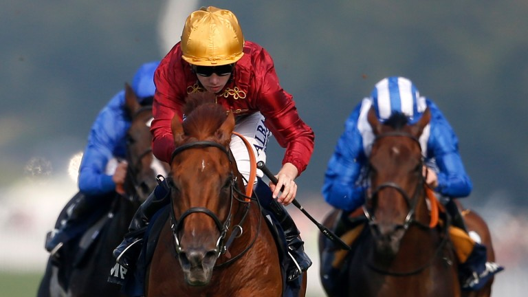Lightning Spear and Oisin Murphy win the Celebration Mile at Goodwood