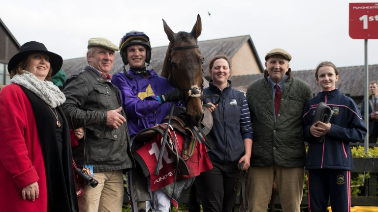 John Ryan, second from right, pictured with Icantsay at Punchestown on Wednesday