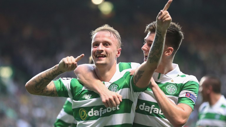 Celtic's Leigh Griffiths (left) has been in fine form