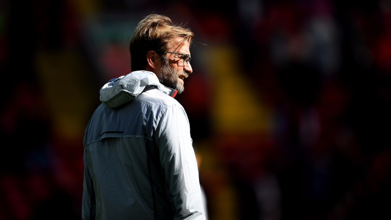 Jurgen Klopp is eyeing a Champions League place