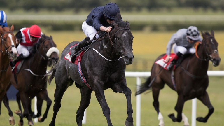 Sprint star: Caravaggio accelerates sharply to register an impressive victory on his return