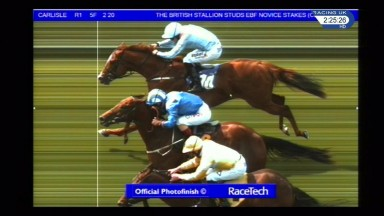 The three-way photo finish at Carlisle