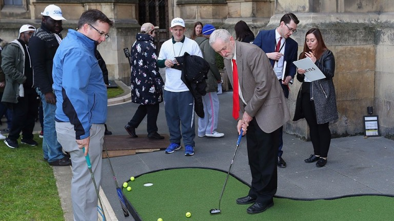 Labour leader Jeremy Corbyn attempts to win over some swing voters