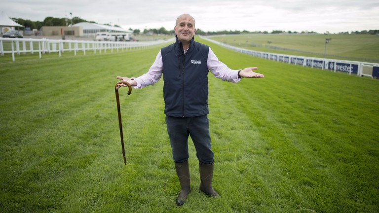 Andrew Cooper: clerk of the course at Epsom and Sandown has a busy week in store