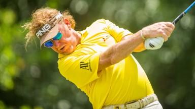 Miguel Angel Jimenezin action at the PGA Tour Champions Insperity Invitational