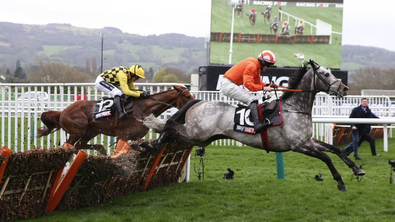 Labaik, seen here en route to winning at Cheltenham, is at the centre of a High Court order to seize criminal assets