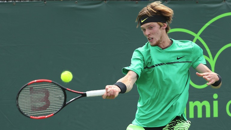 Andrey Rublev is expected to have a big future in tennis