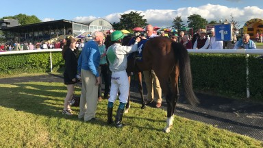Connections of Zamira after her victory in the feature fillies handicap at Tipperary on Thursday