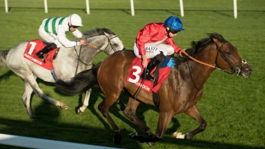 Autocratic and Ryan Moore power home to victory from Algometer in the Brigadier Gerard Stakes