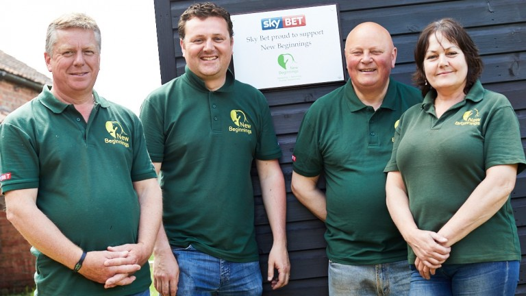 New Beginnings volunteering day (from left): Kevin Atkinson, Michael Shinners, Graham Orange and Pam Hollingworth