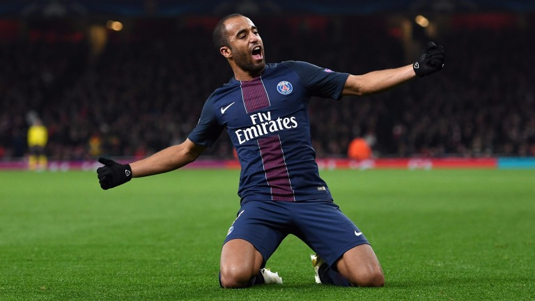 Lucas Moura's PSG are strong favourites