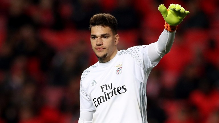 Benfica goalkeeper Ederson has been earning rave reviews