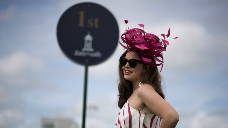 Fun in the sun: racegoers enjoyed much better weather than on 2,000 Guineas day
