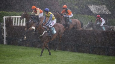 MUNSAAB Ridden by Henry Brooke (Far Side Orande cap)  wins at Cartmel as the Curragh strickes at Cartmel 27/5/17Photograph by Grossick Racing Photography 0771 046 1723