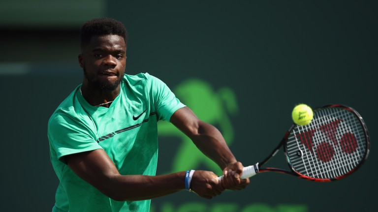 Frances Tiafoe has been billed as a star of the future