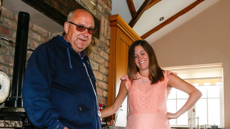 Richard Fahey with partner Amie Canham, who said:' I thought a programme like this would open people's eyes'