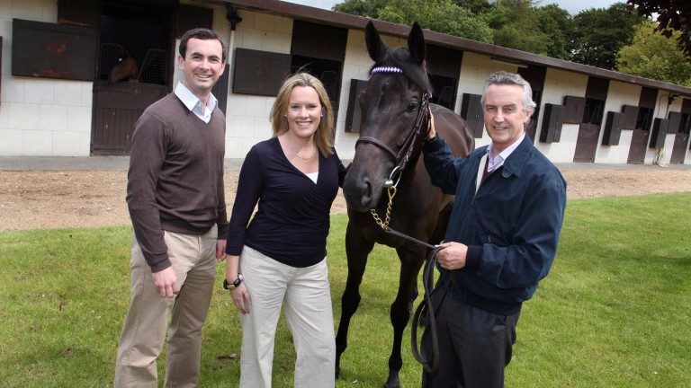 Jim Bolger (right) with Emmeline Hill (centre) who have embraced the use of genetics