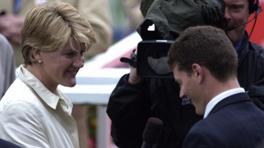 The 'speechless' interview: tears all round for the Balding family as Clare interviews brother Andrew after Casual Look's Oaks triumph