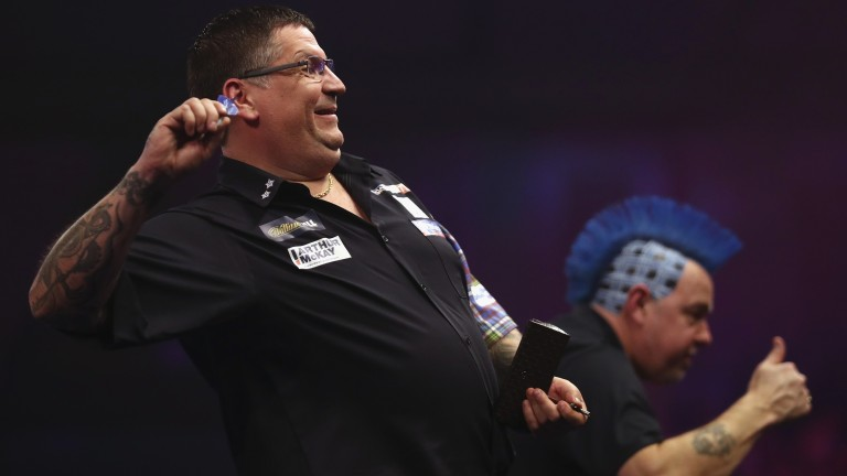 Gary Anderson (left) and Peter Wright can justify their top ranking