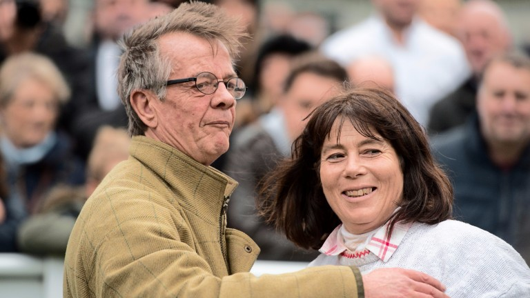 Mark and Sara Bradstock after Coneygree wins at Sandown in 2015