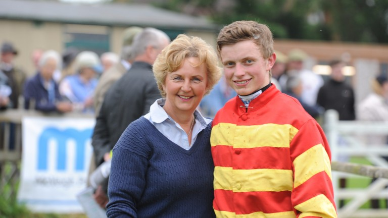 James Bowen with mum Karen: he is joining the champion trainer