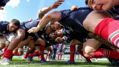 The Lions forwards are put through their scrummaging paces in Auckland