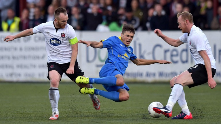 Dundalk will be hopeful that Stephen O'Donnell (left) is fit to return