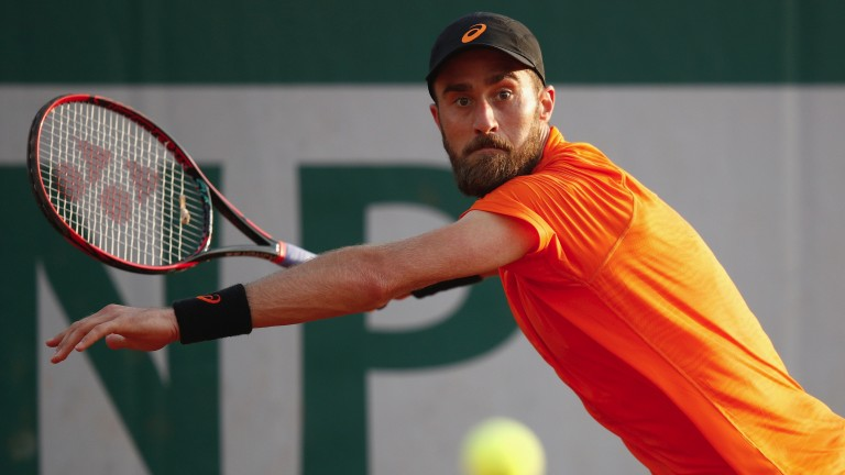 Steve Johnson posted a blinding result to defeat Borna Coric in round two