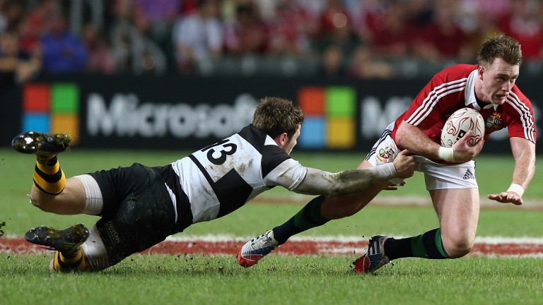 Stuart Hogg faced the Barbarians in the Lions' opening match of the 2013 tour