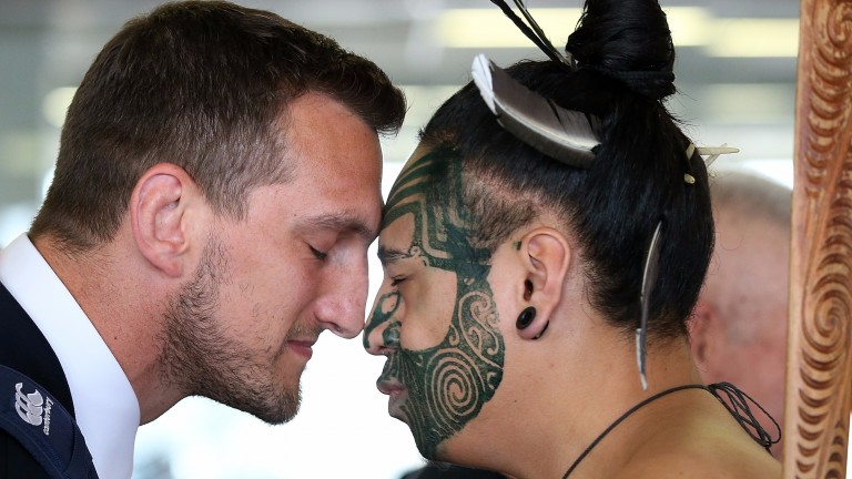 Lions captain Sam Warburton is greeted on arrival in New Zealand