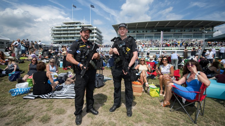Safety first: security is key on Oaks day at the Surrey track
