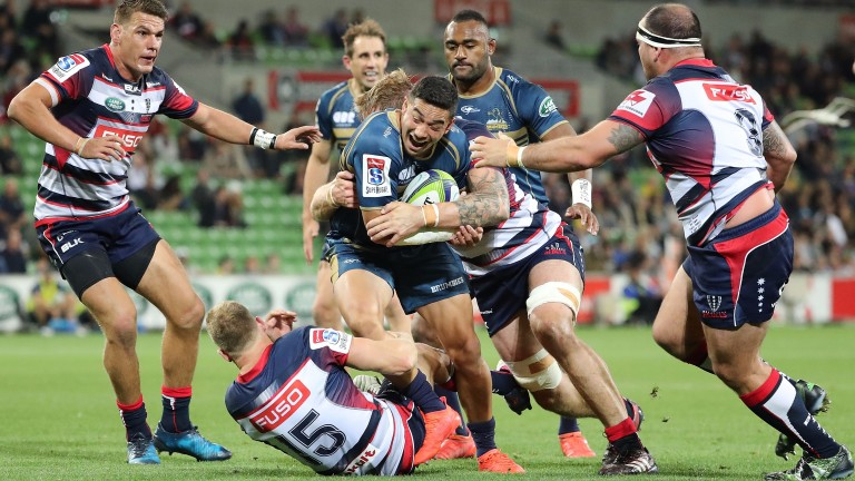 The Brumbies were edged out by the Rebels in round eight
